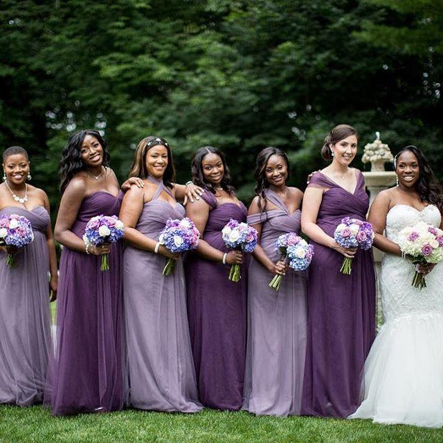 Alternating Light And Dark Shades Of Purple Um Yes Please Bridesmaids Purple Dark Purple Bridesmaid Dresses Purple Bridesmaid Dresses Bridesmaid Saree