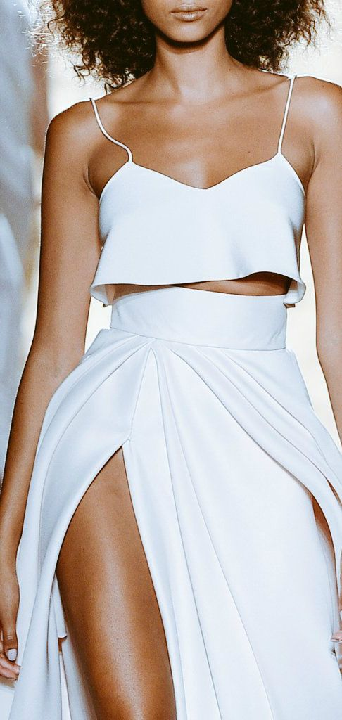 beautful crop top and white maxi skirt