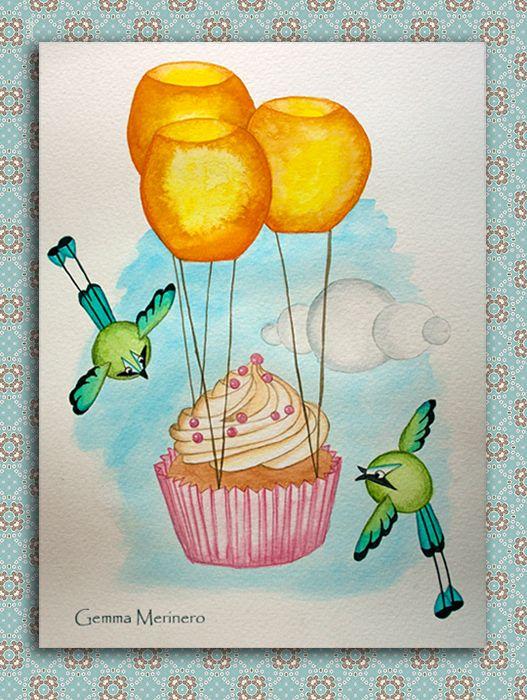 Momotos, cupcake y farolillos. (Gemma Merinero)