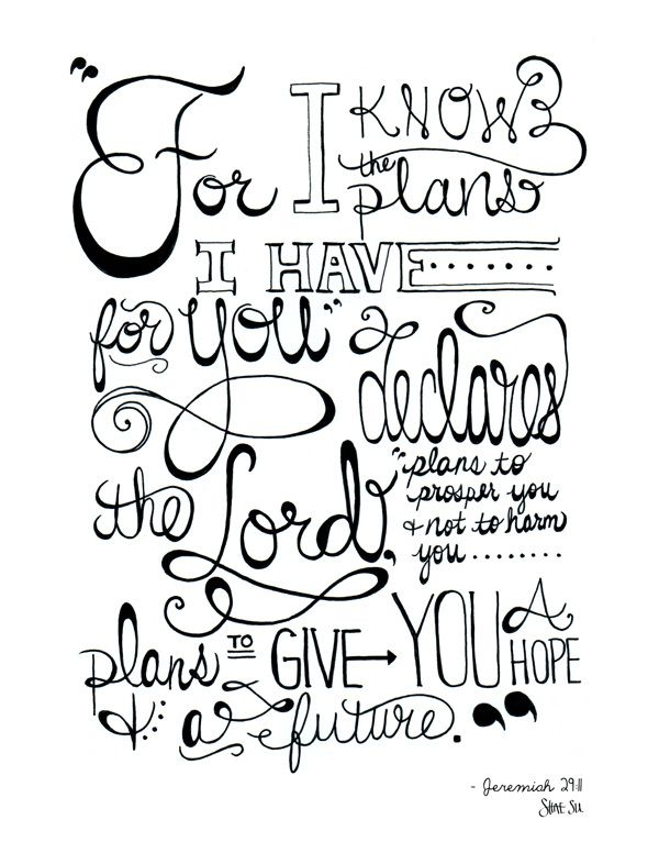 Jeremiah 29:11 ~ Quotes, Verses, Word Art on Behance