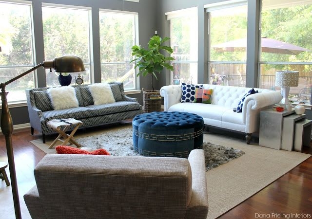 2 Different Sofas, Great Look | Furniture Ideas | Pinterest | Living Rooms,  Ottomans And Furniture Ideas Part 29