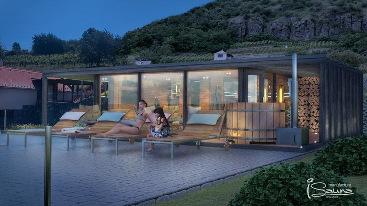 Luxusní sauna s výhledem na vinice