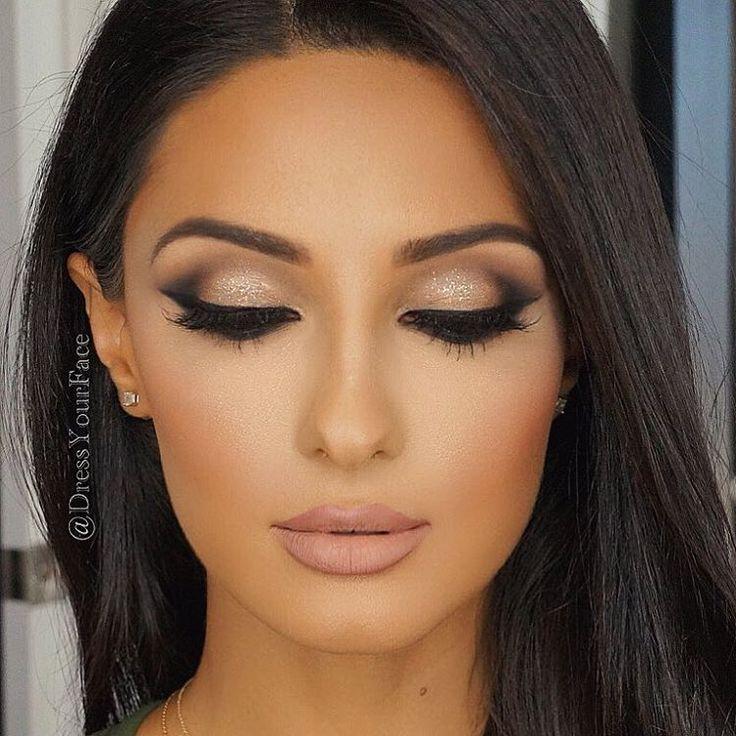 Image result for gold dress makeup