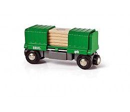 Brio treinen 33561 goederenwagon  Laadt de goederen in de wagon, koppel de wagon aan een Brio locomotief en rijdt vervolgens de lading naar de plaats van bestemming.  Een spannend stukje speelgoed, speciaal voor kleine machinisten die er van houden om spulletjes te verstoppen en te ontdekken. http://www.brio-trein.nl/brio-treinen-33561-goederenwagon.html