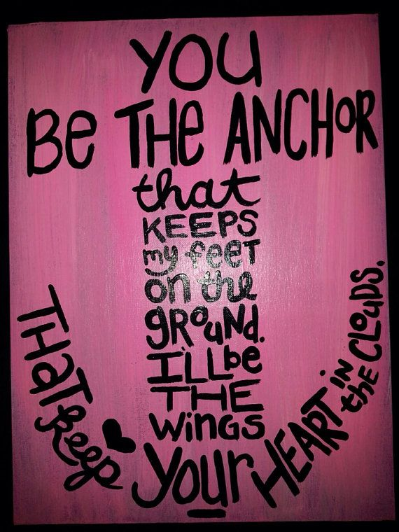 """12"""" x 16"""" Hand-painted Canvas with Anchor and Quote on Etsy, $25.00"""