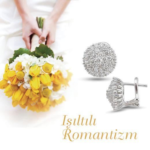 Işıltılı romantizm... #kupe #earring #diamond #romance #pirlanta