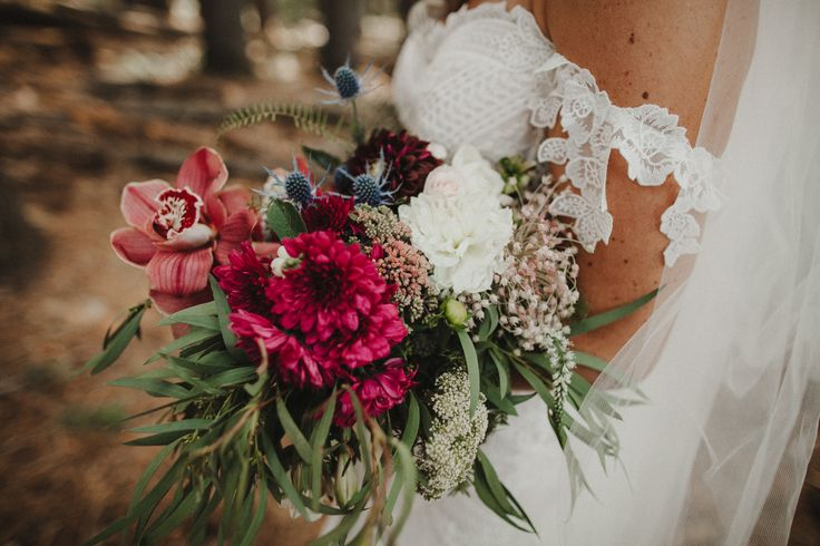 Tumbarumba Wedding   Sugar Pine Walk Wedding Photographer   Nature Child Bouquet   Rue De Seine Fox Gown   Beautiful Bouquet