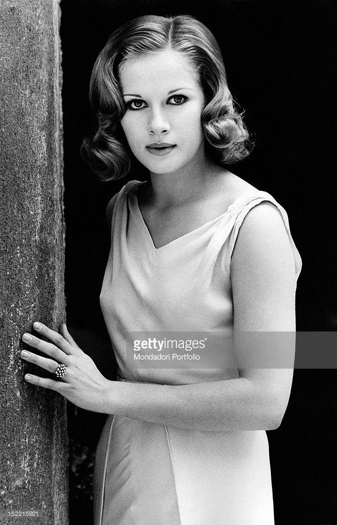 Dominique Sanda, who plays the role of Micol in Il Giardino dei Finzi Contini based on Giorgio Bassani's novel, is posing for the photographer. Frascati, 1970.