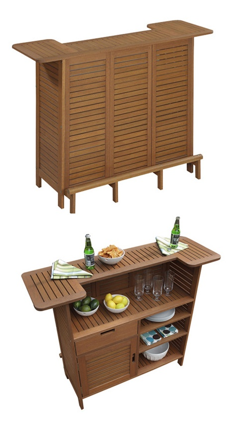 Totally need this outdoor bar for my patio! #bar #cocktails #summer