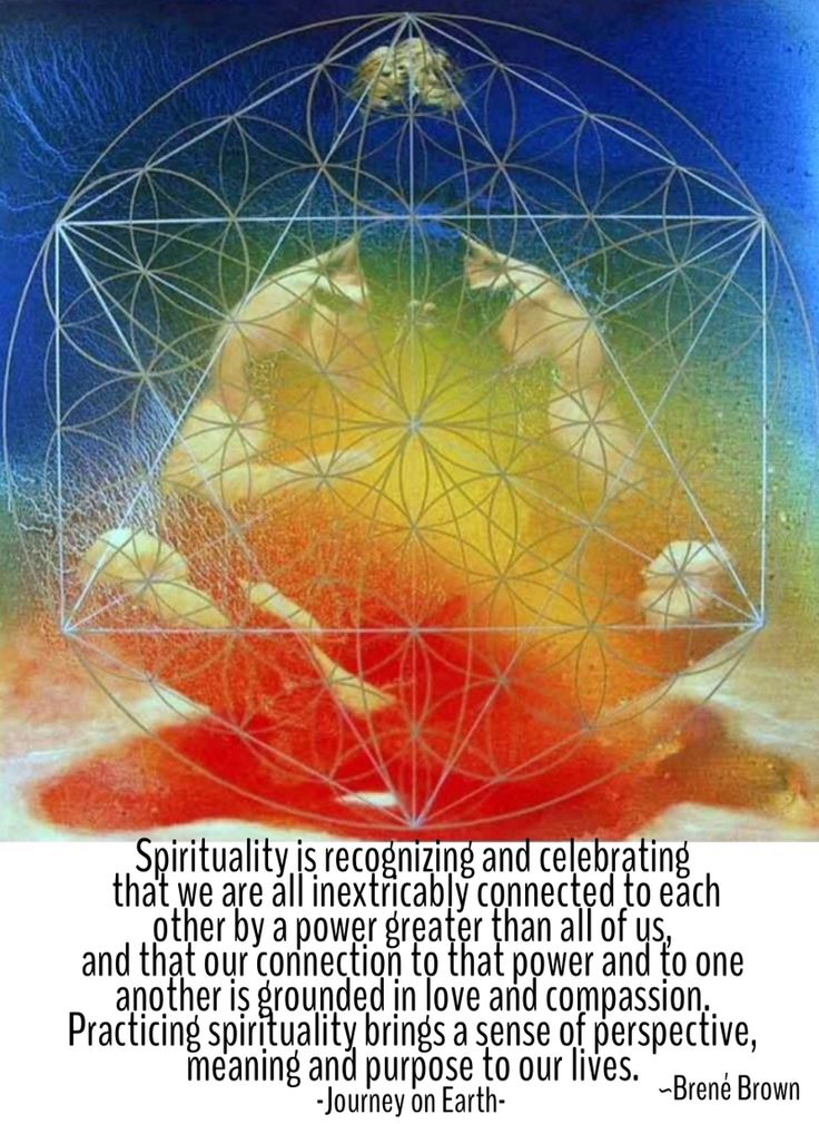 SPIRITUALITY is recognizing & celebrating that we are all inextricably Connected to each other by a Power Greater than All of us, & that our Connection to that Power & to one another is Grounded in Love & Compassion. Practicing spirituality brings a Sense of Perspective, Meaning & Purpose to our lives. ~Brené Brown