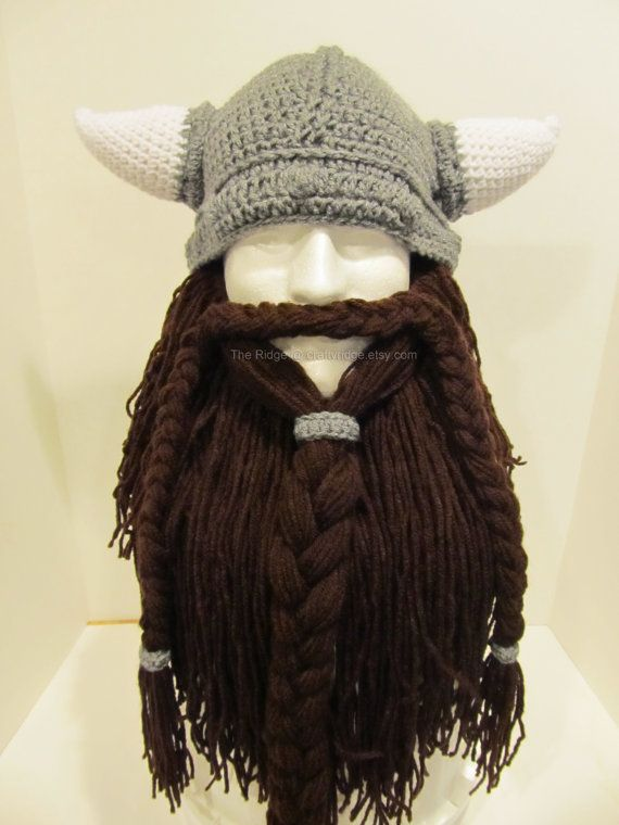 Viking Beard Hat Knitting Pattern : Beard in Black - special order for K. Mitchell Awesome, The beards and Beards
