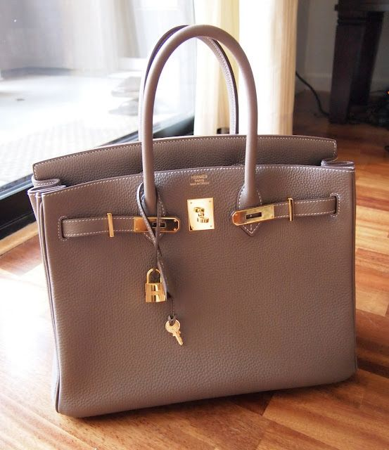 Hermes Birkin in Etoupe w/ gold hardware..Ahhh, if only I could afford this bag!