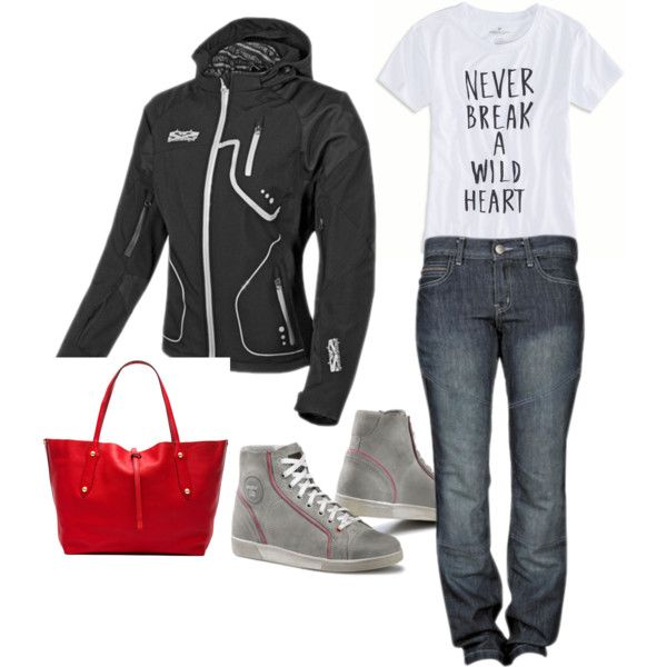 Ladies Casual Motorcycle Outfit - most items available at throttlemojo.com