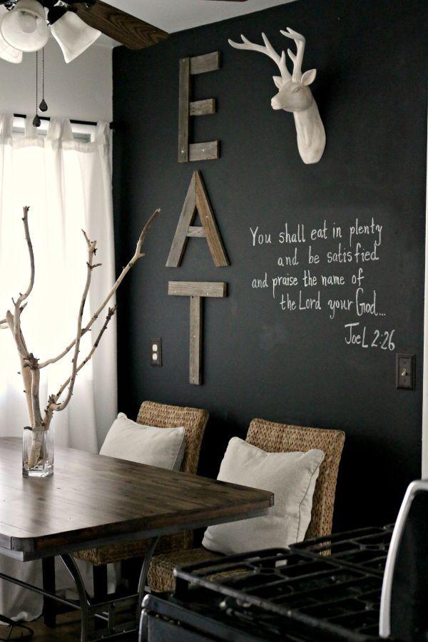 tableau noir pour votre salle à manger