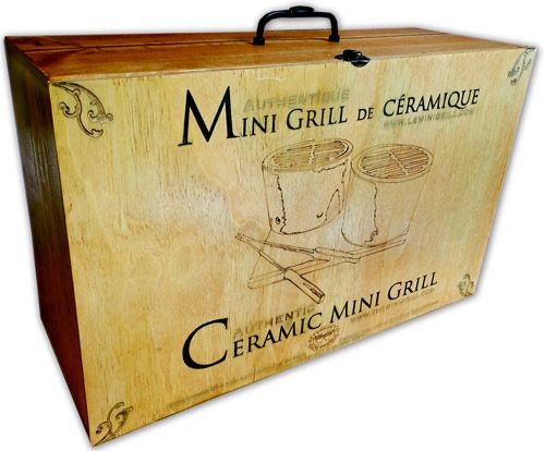 Unique and authentic vintage/rustic Mini Grill box set. Hand made with signed and numbered authentification.
