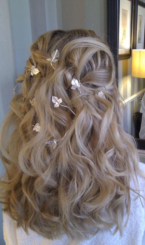 Wedding Hair Vine, Bridal Hair Wrap in Sterling Silver, Moonstone Cab ...