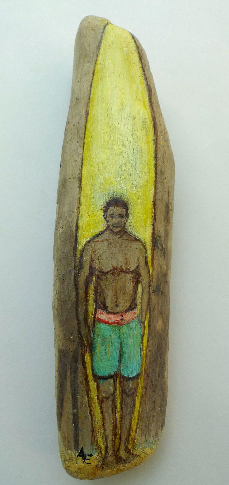 Treibholz- Surfer 20cmx5cm