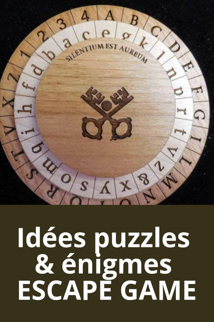 Idées de puzzle et énigmes pour créer un chasse au trésor ou un escape game  !