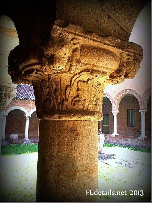 Dettagli: capitelli del centro - Details: capitals of the center, Ferrara,Italy, photo3