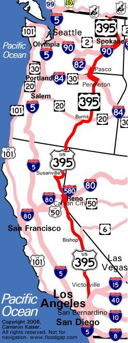 US 395, the Three Flags Highway, is a 1,305-mile ribbon of asphalt running through some of the most scenic and far-flung reaches in the western United States. At its longest (1,490 miles), it stretched all the way from the San Diego bay near the California-Mexico border to the Canadian border in Washington state, earning its name as a route that nearly touches all three nations effortlessly. #LoveYourRV