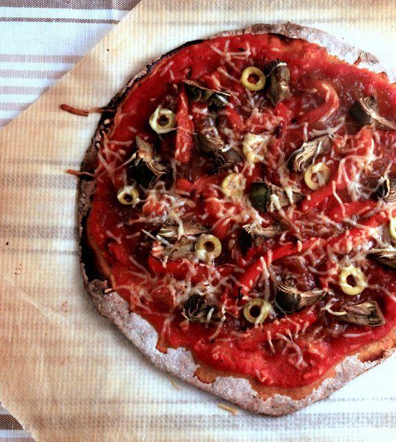 Pizza Mediterránea con Masa Integral | Cocina Para Emancipados