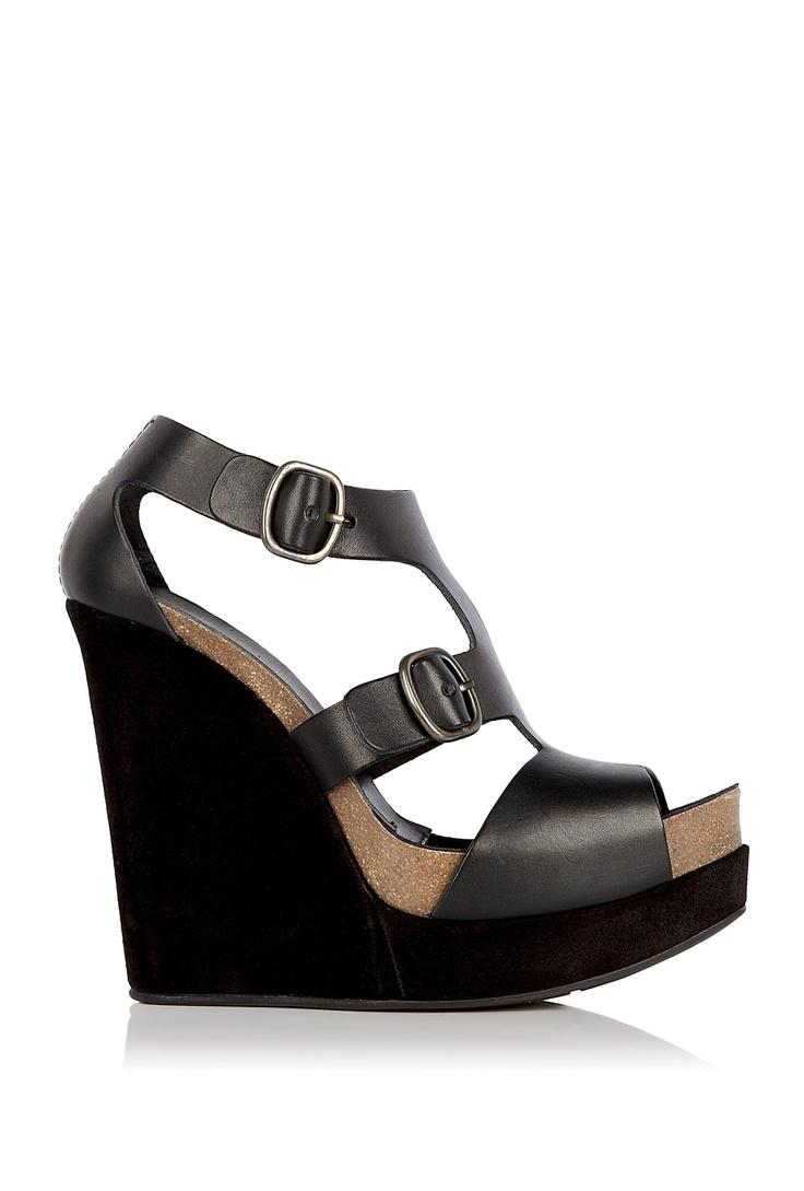 Pedro Garcia, Black vacchetta High T Strap sandal