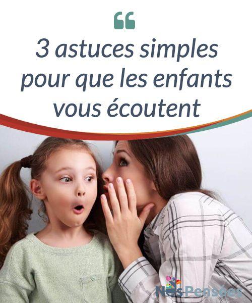 3 astuces simples pour que les enfants vous écoutent  Pendant l'enfance, le cortex pré-frontal se développe, et le contrôle des impulsions est donc une tâche compliquée pour les #enfants. Le contrôle de la tension également, qui est plus dirigée par les #stimulations #extérieures que par la conscience.   #Psychologie
