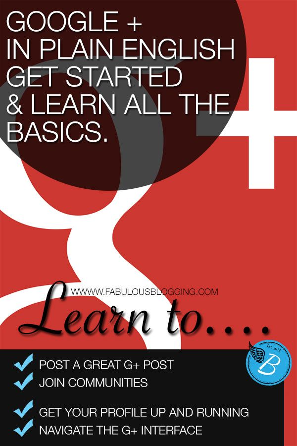 Learn How to Use Google Plus | A Beginner's Guide MARCH 14, 2013 BY JULIE DENEEN. This is a great guide to getting started on GooglePlus. Helpful even if you have been on G+ for a while.