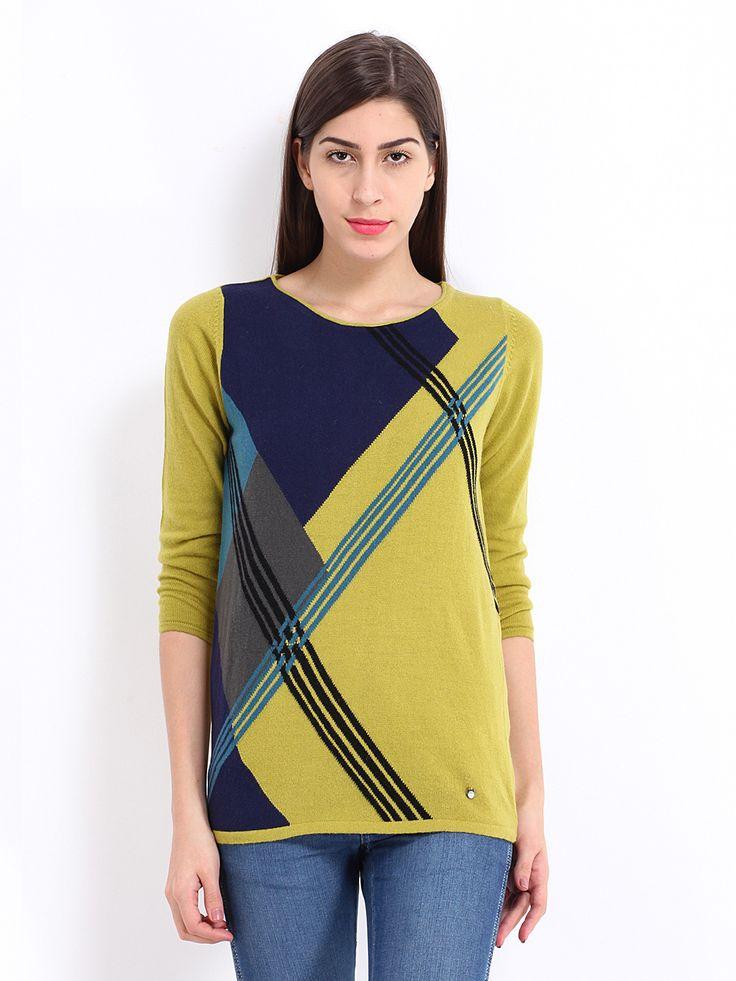 Women-Sweaters-yellow