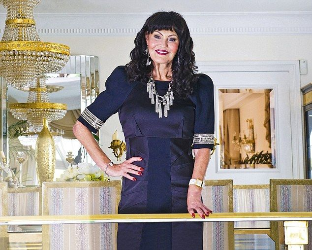 Life at the top: Businesswoman Hilary Devey pictured in her opulent London apartment