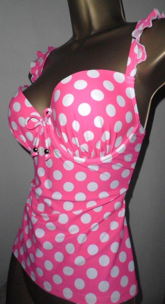 b69f539985f8b SEXY LADIES MATALAN PINK MIX PADDED UNDERWIRED TANKINI BIKINI TOP SIZE 14 # fashion #clothing #shoes #accessories #womensclothing #swimwear (ebay link)