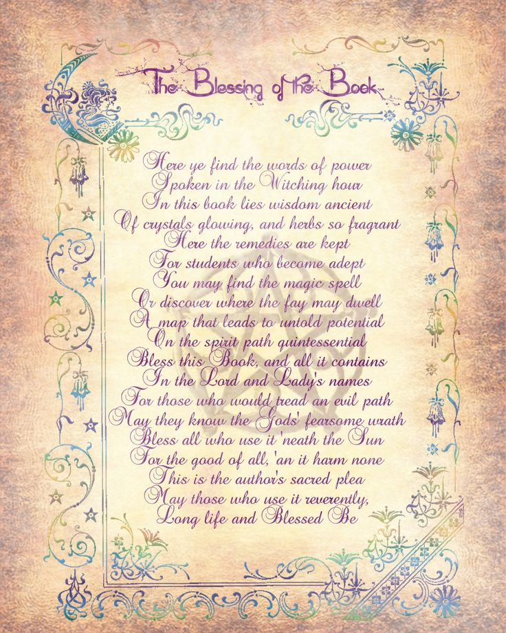 A Blessing for the Book of Shadows