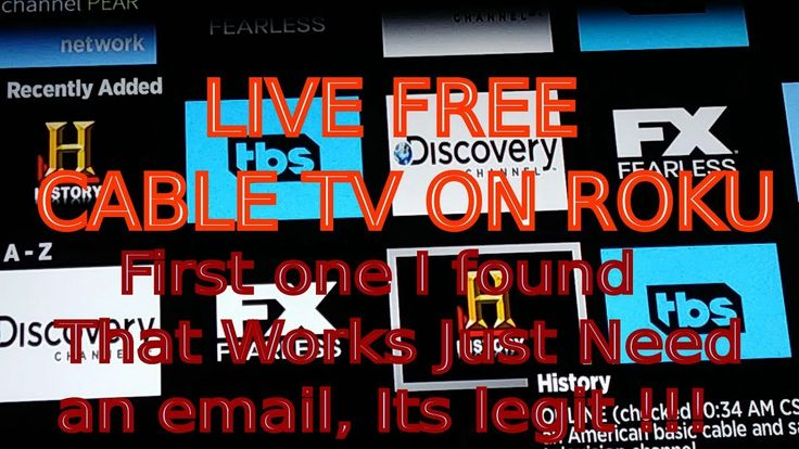 Live free cable tv on roku best channel roku