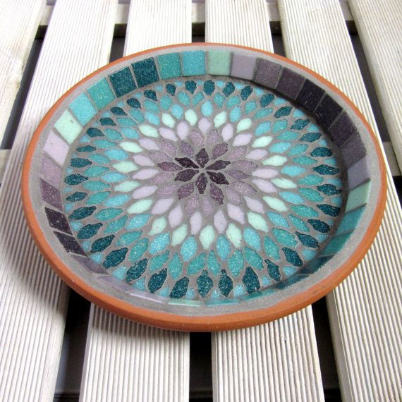 Gypsy Rose Mosaic Garden Yard Bird Bath Decor