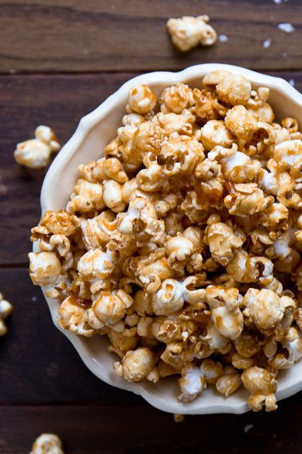 Bourbon & Salted Caramel Popcorn by foodiebride, via Flickr