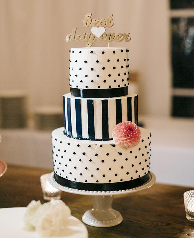 Blue and Navy Wedding Cake | Harrison Studio | blog.theknot.com