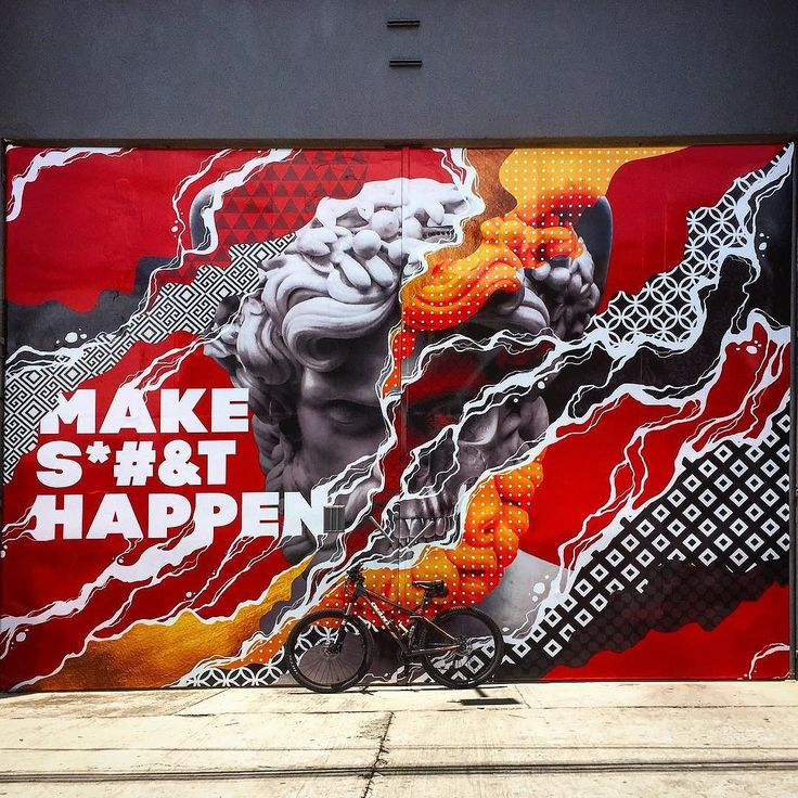 MAKE S#&T HAPPEN  #bikesandgraffs #birulasygraffitis