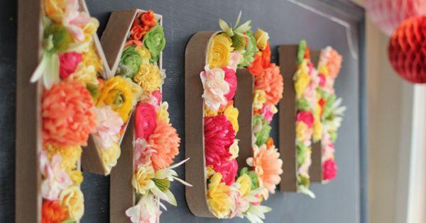 Letras llenas de flores para decorar tu boda, ¡bodas DIY!