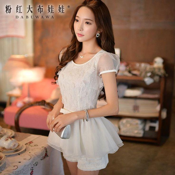 Barato Dabuwawa 2016 verão nova magro cintura flor camisa branca pink doll, Compro Qualidade Blusas diretamente de fornecedores da China:                       Por favor, Tipo saber                          Marca Moda feminina primavera vestido novo 20