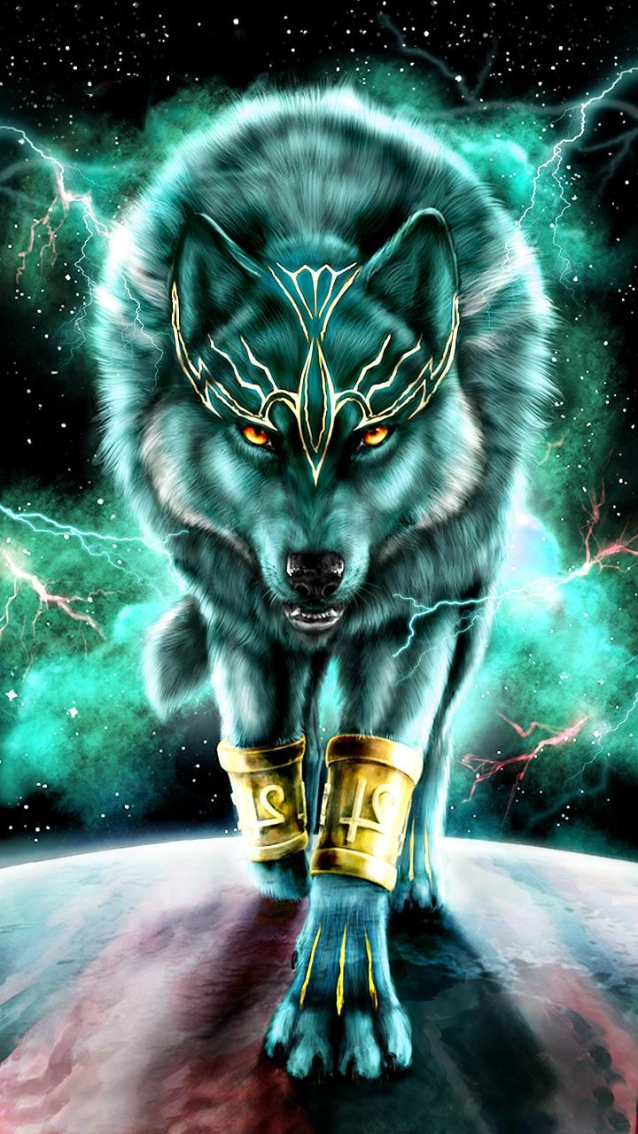 Wolf King Wiser And Stronger Than Ever Wolf Art Neon Mythical Creatures Art Wolf Art Fantasy Wolf Artwork