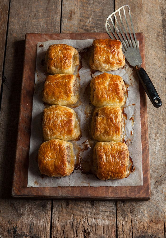 pork with sage and apple sausage rolls | Drizzle and Dip