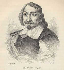 "Quebec-Canada_ Samuel de Champlain (1574-1635)- ""The Father of New France"", was a French navigator, cartographer, draughtsman, soldier, explorer, geographer, ethnologist, diplomat, and chronicler. He founded New France and Quebec City on July 3, 1608. He is important to Canadian history because he made the first accurate map of the coast and he helped establish the settlements. (above: 19th century artist's conception of Champlain by E. Ronjat)"