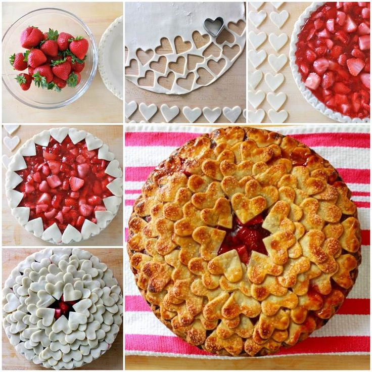 Beautiful Strawberry Heart Pie #DIY #FOOD #RECIPE #VALENTINE
