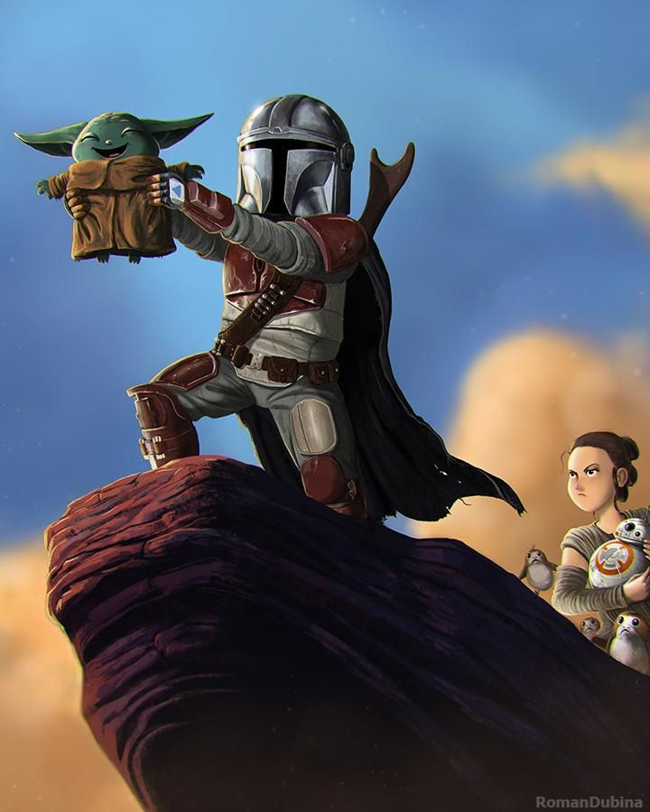 Mando And Baby Yoda Art By Romandubina On Deviantart Star Wars Pictures Star Wars Characters Disney Star Wars