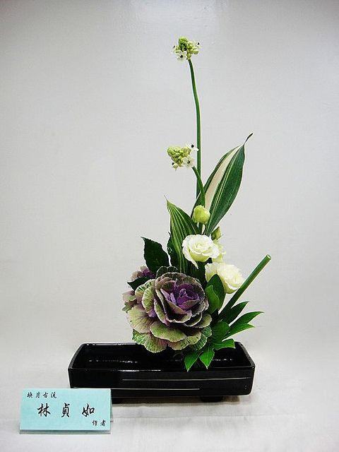 Unit 206 Bi - Simple Form-linear. Ikebana. Would need something horizontal on the left hand side to balance it out.