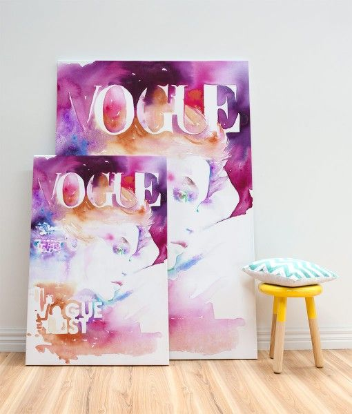 Vogue Cover List Canvas Print-designed by Catherine Parr sold by Home @ Abode