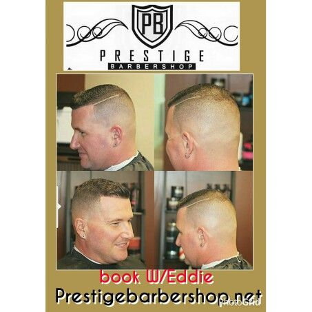 Comb over haircut  at Prestige barbershop. Book your appt now with Eddie. Prestigebarbershop.net