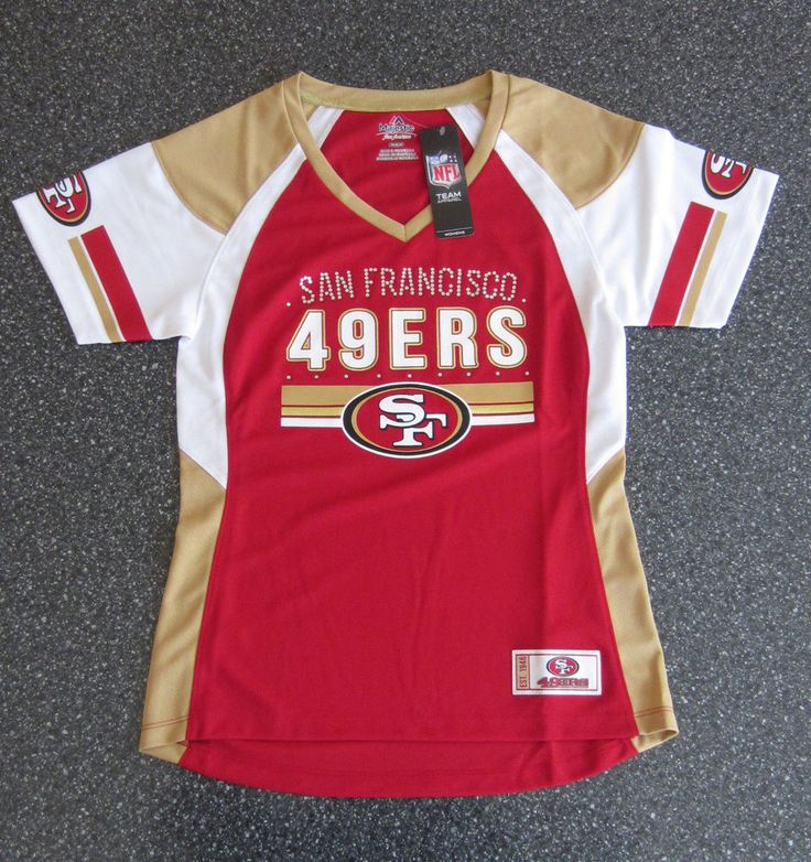 Women's San Francisco 49ers Shirt / Jersey Authentic #NFL Apparel Medium from $24.99