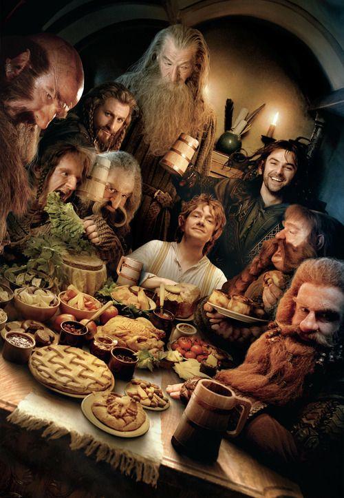 Kili: Let's eat!!!  Gandalf: No Kili...  Ori: I'm so hungry, I just have to eat this green thing...