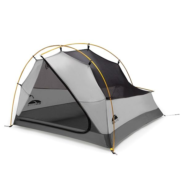 GoLite Imogene UL2 Tent - 2 lbs.11 oz. free-standing tent. Roomy enough for two, light enough for one. Setting the standard for ultra-lightweight livable space. Updated pole design adds additional volume and provides more stable pitch.